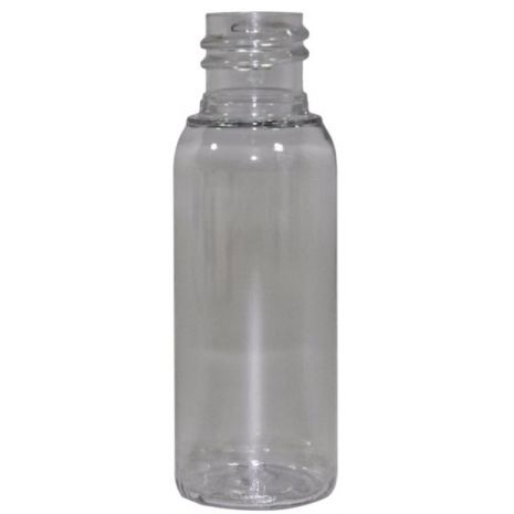 Plastic Bottle 1 Oz Clear Cosmo Rounds