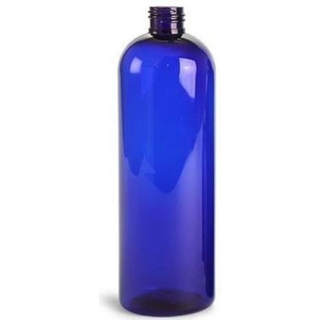 Plastic Bottle 16 Oz Blue Cosmo Rounds