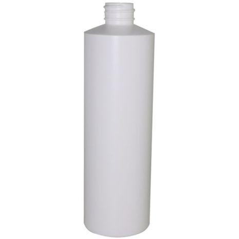 Plastic Bottle 16 Oz White Cylinder