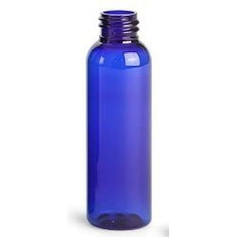 Plastic Bottle 2 Oz Blue Cosmo Rounds