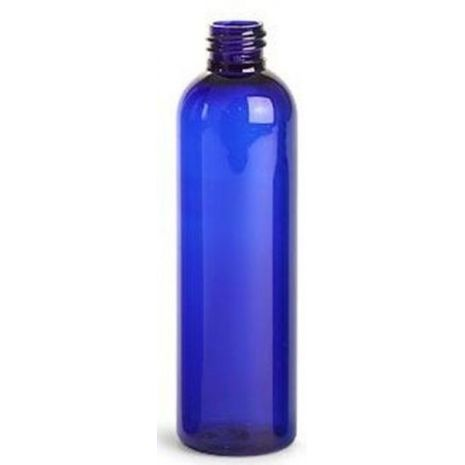 Plastic Bottle 4 Oz Blue Cosmo Rounds