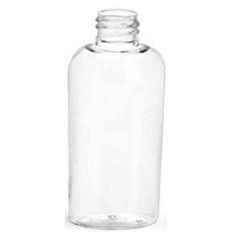 Plastic Bottle 4 Oz Clear Cosmo Oval
