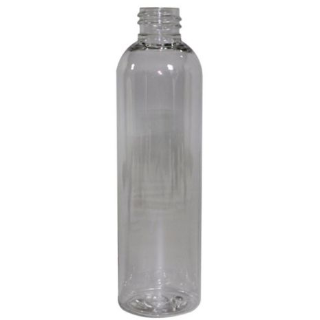 Plastic Bottle 4 Oz Clear Cosmo Rounds