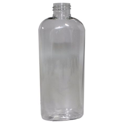 Plastic Bottle 6 Oz Clear Cosmo Oval