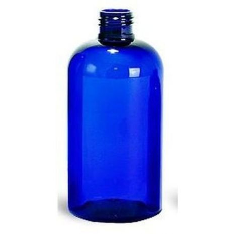 Plastic Bottle 8 Oz Blue Boston Rounds