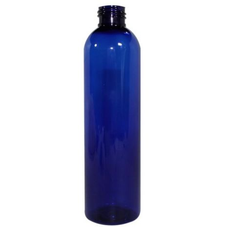 Plastic Bottle 8 Oz Blue Cosmo Rounds