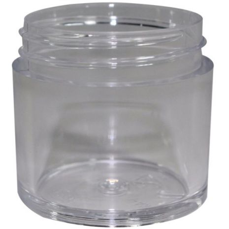 Plastic Jar 1 Oz Clear Wide