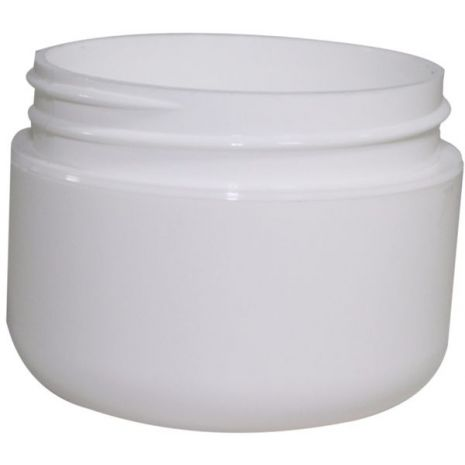 Plastic Jar 1 Oz White Rnd Rnd Bottom