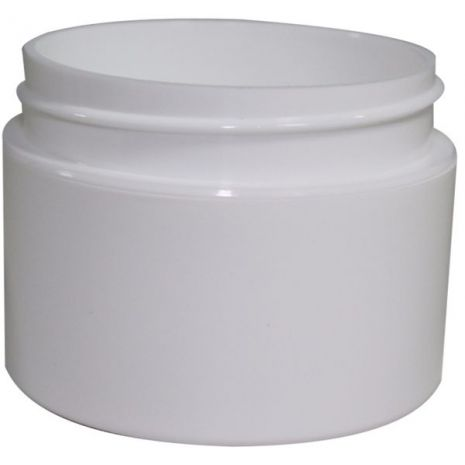 Plastic Jar 1 Oz White Rnd Strt Bottom