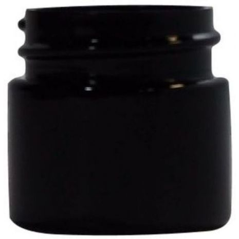 Plastic Jar 1/2 Oz Black