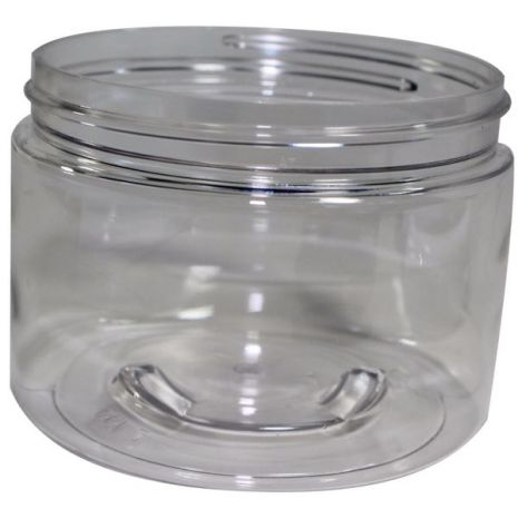 Plastic Jar 12 Oz Clear Round