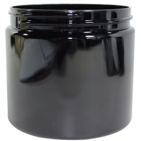 Plastic Jar 16 Oz Black