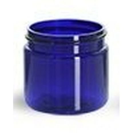 Plastic Jar 2 Oz Blue Round Tall