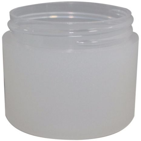 Plastic Jar 2 Oz Frosted Round