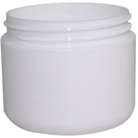 Plastic Jar 2 Oz White Rnd Rnd Bottom