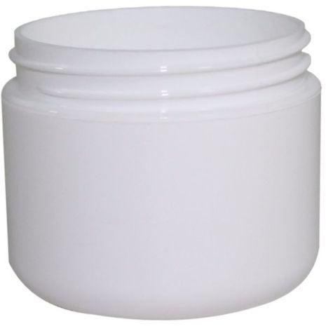 Plastic Jar 2 Oz White Rnd Rnd Bottom