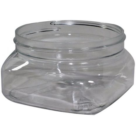 Plastic Jar 4 Oz Clear Square