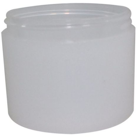 Plastic Jar 4 Oz Frosted Round
