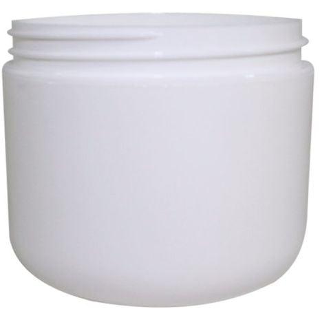 Plastic Jar 4 Oz White Rnd Rnd Bottom