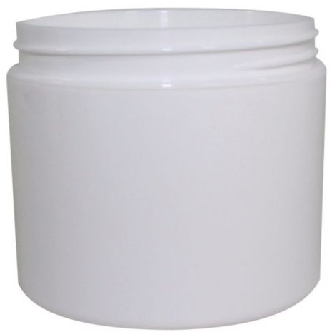 Plastic Jar 4 Oz White Rnd Strt Bottom