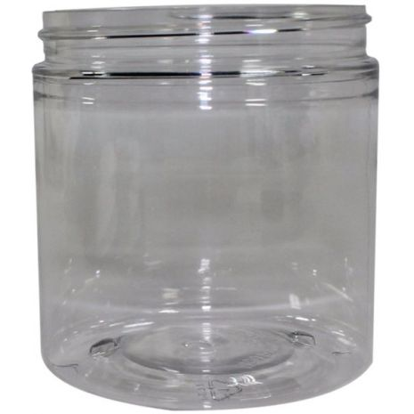 Plastic Jar 8 Oz Clear Round Tall