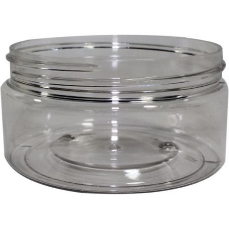 Plastic Jar 8 Oz Clear Round Wide