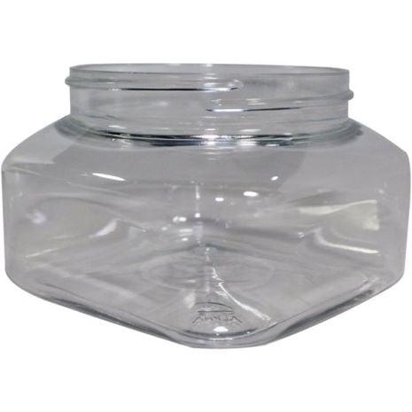 Plastic Jar 8 Oz Clear Square