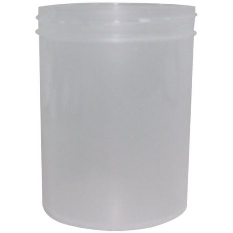 Plastic Jar 8 Oz Natural Tall