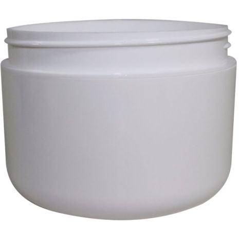Plastic Jar 8 Oz Wht Rnd Rnd Bottom