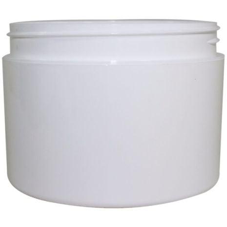 Plastic Jar 8 Oz Wht Rnd Strt Bottom