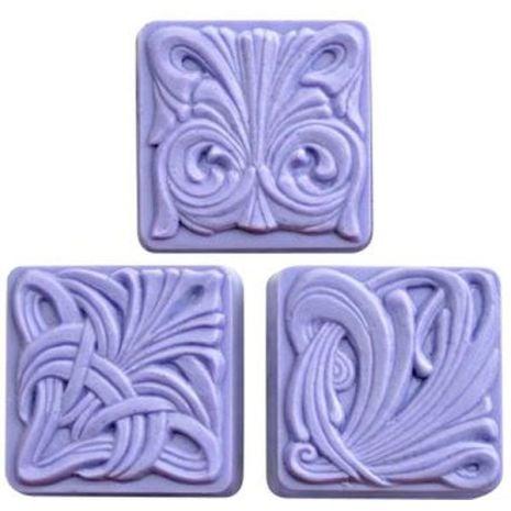Nature Art Nouveau Tiles Soap Mold