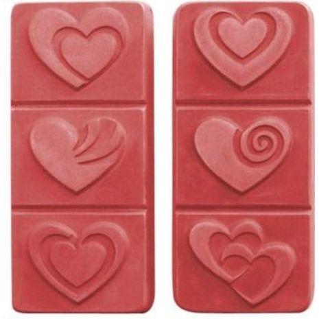 Nature Breakaway Hearts Soap Mold