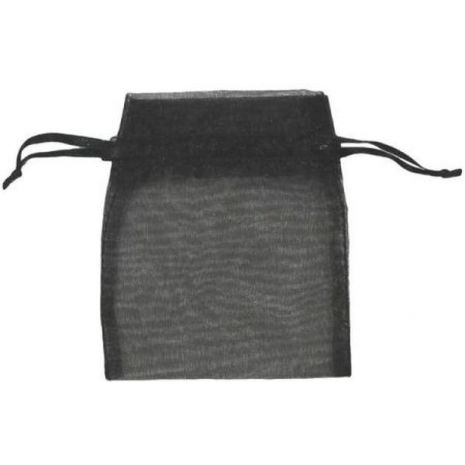 Organza Bag - Black 3 x 4