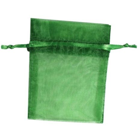 Organza Bag - Emerald 3 x 4