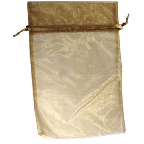 Organza Bag - Gold 5 x 8
