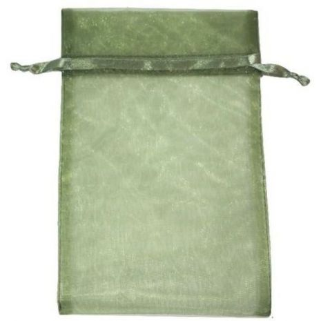 Organza Bag - Moss Green 5 x 8