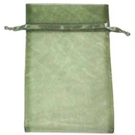 Organza Bag - Moss Green 5 x 8