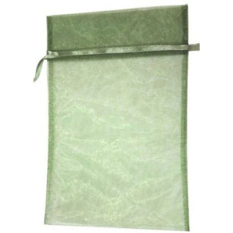 Organza Bag - Moss Green 8 x 12