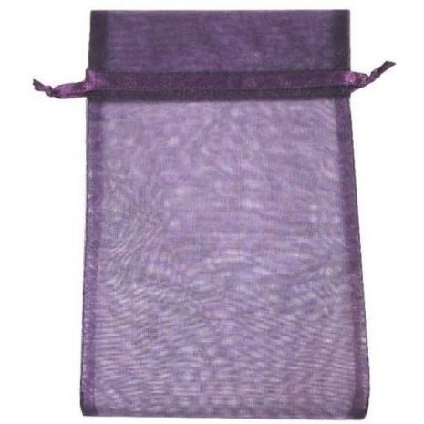 Organza Bag - Purple 5 x 8