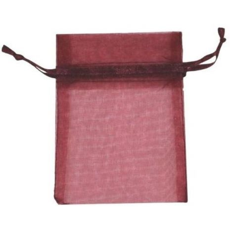 Organza Bag - Wine 3 x 4
