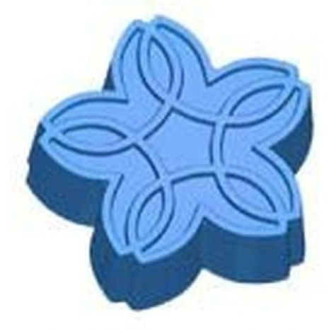 Stylized Celtic Flower Soap Mold