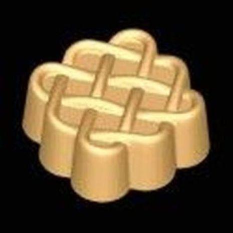 Stylized Celtic Weave Soap Mold