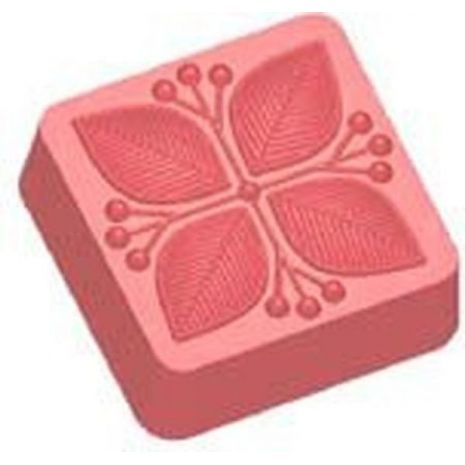 Stylized Leaves Berries Soap Mold