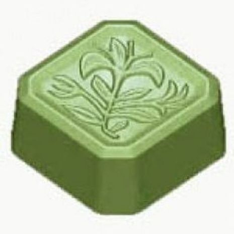 Stylized Petite Floral Square Soap Mold