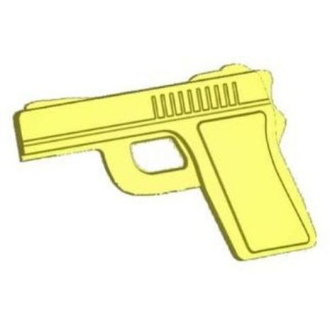 Stylized Pistol Soap Mold