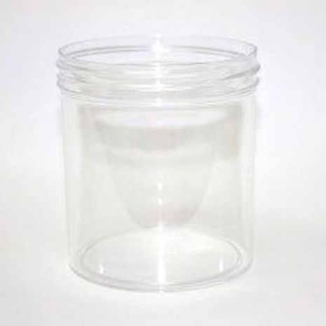 Plastic Jar 16 Oz Clear Round Tall With Cap