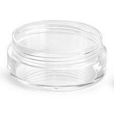 Plastic Jar 20 Ml Clear With Cap