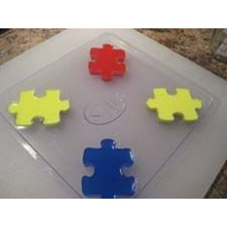 Stylized Puzzle Piece Soap Mold