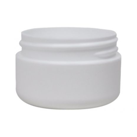 Plastic Jar 0.5 Oz White Round