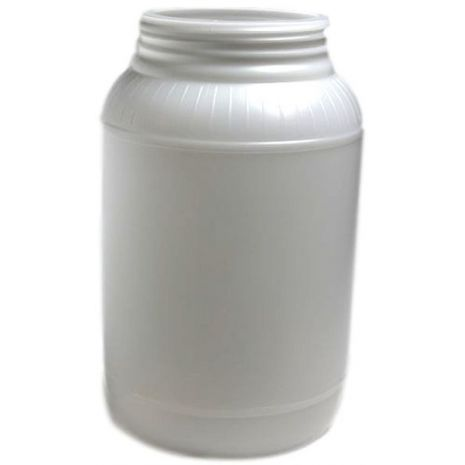 Plastic Jar 128 Oz Natural Round
